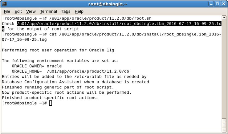 Installation and Oracle Database Creation in Silent Mode